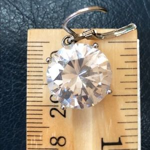 """Large Faux Diamond Earrings .25"""""""